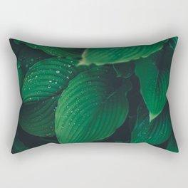 Moist Leaves Rectangular Pillow