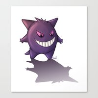 gengar Canvas Prints featuring Gengar by MaliceZ