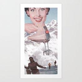 Doris Whisker Art Print