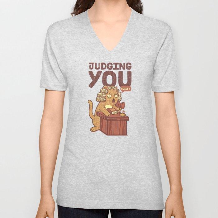 I'm Judging You Cat T-Shirt Unisex V-Neck
