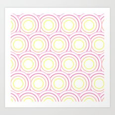Crazy Circles  Art Print