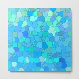 Berzerk Berry Blue Metal Print
