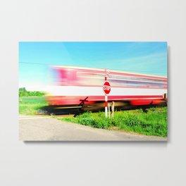 Passing train Metal Print