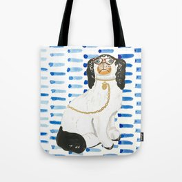 BESPECTACLED on BLUE Tote Bag