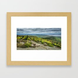Cadillac Mountain and Beyond! Framed Art Print