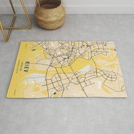 Kiev Yellow City Map Rug