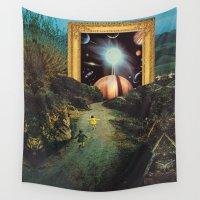 run Wall Tapestries featuring Run, run, dreamers by Mariano Peccinetti