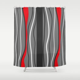 Abstract Graphic Design Lines Shower Curtain