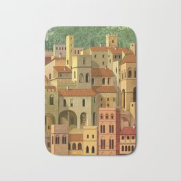Medieval city Bath Mat