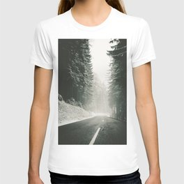 Forest Road In Winter T-shirt
