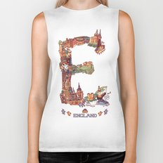 E is for England Biker Tank