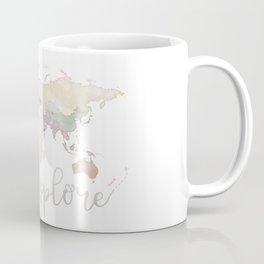 Pastel World Map Coffee Mug