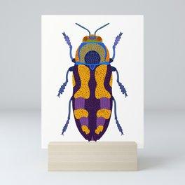 Purple and Blue Beetle Mini Art Print