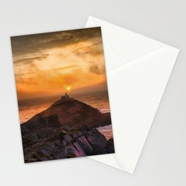 Sunrise at Mumbles lighthouse Stationery Cards