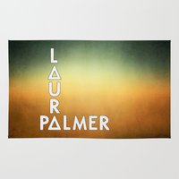 laura palmer Area & Throw Rugs featuring Bastille - Laura Palmer #2 by Thafrayer