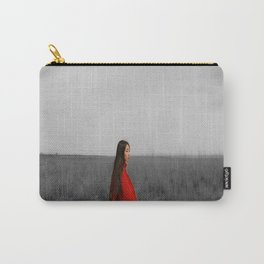 Accent in red Carry-All Pouch