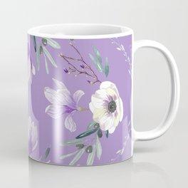Floral Square Violet Coffee Mug