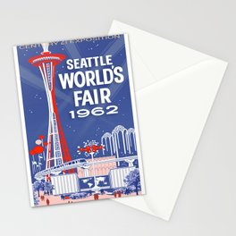 Seattle 1962 World's Fair Vintage Poster Stationery Cards