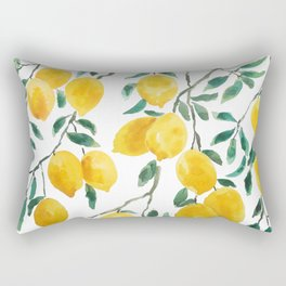 yellow lemon watercolor 2020 Rectangular Pillow