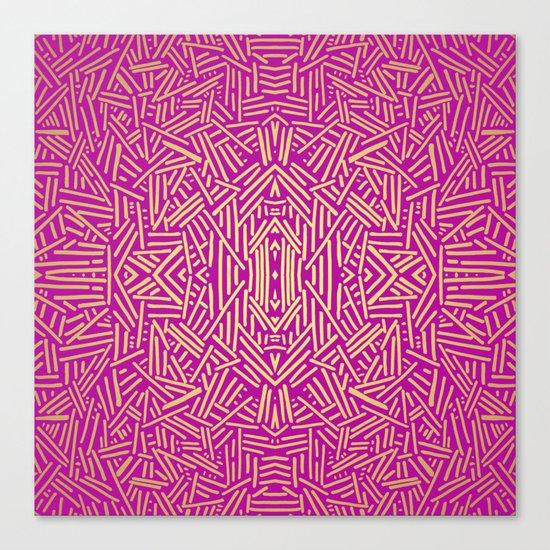 Radiate (Yellow/Ochre Raspberry) Canvas Print
