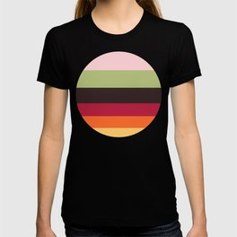 Colorful Color-blocking Stripes T-shirt
