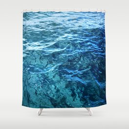 The Ocean's Surface Shower Curtain