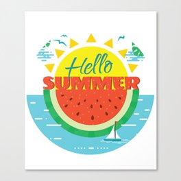 Hello Summer Hello beach Canvas Print