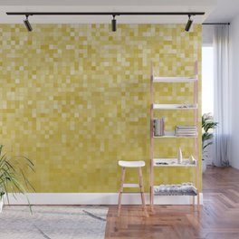 Pixels Gradient Pattern in Yellow Wall Mural