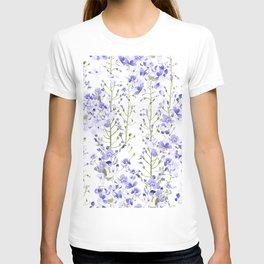 Lovely delicate blue flowers T-shirt