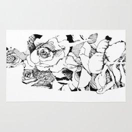Ink Flower Night V Rug