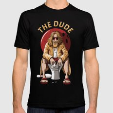 The dude Black SMALL Mens Fitted Tee