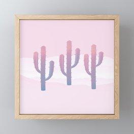 Dreamy Pastel Cacti Design Framed Mini Art Print