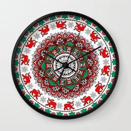 Mandala Christmas Sloth Wall Clock