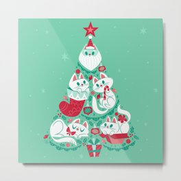 A Very Purry Christmas Metal Print