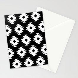 Southwestern Pattern 422 Black and White Stationery Cards