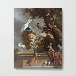 The Menagerie Melchior d'Hondecoeter 1690 Metal Print