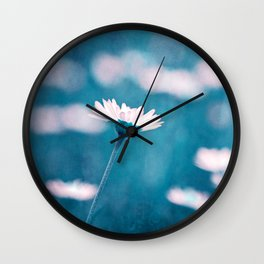 love in blue Wall Clock