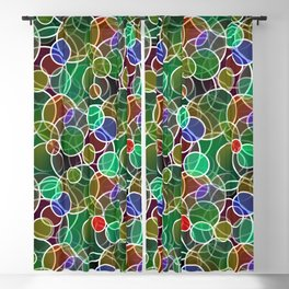 Psychedelic Circles Blackout Curtain
