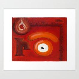 r.ojo Art Print