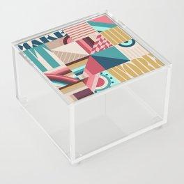 Make It Work Acrylic Box