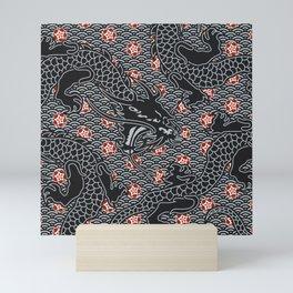 Hidden Dragon / Oriental dragon design Mini Art Print