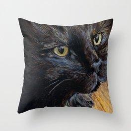 Sheila the Tortoiseshell Cat Throw Pillow
