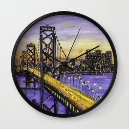 Indigo Night San Francisco Wall Clock