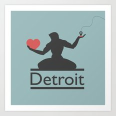 The Spirit of Detroit Art Print