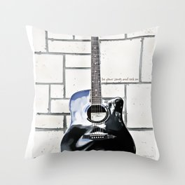 Be Your Song and Rock On in White Throw Pillow