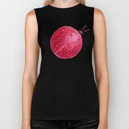 Spherical Abstract Watercolor Ladybug Biker Tank