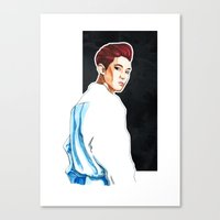 exo Canvas Prints featuring Chanyeol - Exo Overdose Era by Megan Haering