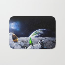Funny Astronaut with beer Bath Mat