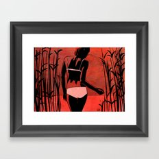 By the lake Framed Art Print
