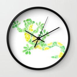 Geometric gecko Wall Clock